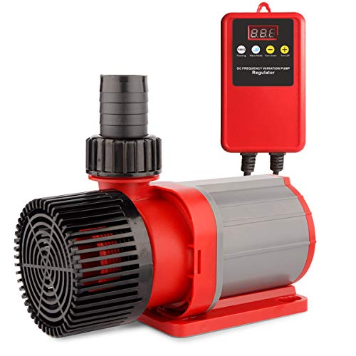 FREESEA Wasserpumpe Filter-/Teichpumpe DC-Frequenz 24V, 10000 L/H Hi-Flow 85W, Ansaughöhe 7.5m