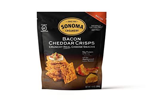 Sonoma Creamery Cheese Crisps, Bacon Cheddar, 10 Ounce Bag