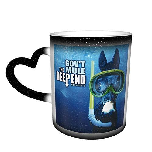 N\A Gov 't Mule Deep End Tassen Farbwechsel Tasse Kaffeetasse Keramik Tassen Lustige Magic Tumbler für Home Office School