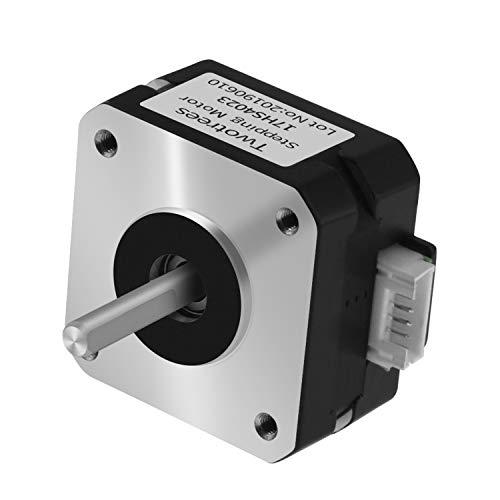 Twotrees NEMA 17 Schrittmotor für Titan-Extruder 3D-Druckermotor 17HS4023 mit Draht (Schwarz, 1Pcs)