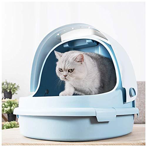 ZY Perro tazón Clamshell la litera del Gato Grande Caja bandejas Desmontable Snap Diseño Gato Aseo Pala Libre del Gato AA-Cat Bandeja higiénico (Color: Rosa) LOLDF1 (Color : Blue)