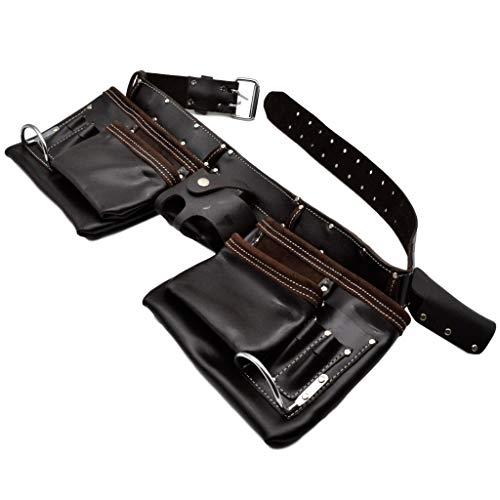 Werkzeuggürtel Werkzeugtasche geöltes Leder 11 Fächer schwere Qualität