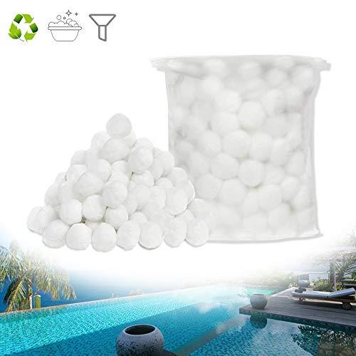 Froadp Filterbälle Sandfilteranlage Filter 700g Filter Balls Filteranlagenzubehör ersetzen 25KG Filtersand für Filterkessel Pool Sandfilter