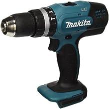 Makita DHP453Z drill Sin llave Negro, Verde, Plata 1,7 kg - Taladro eléctrico (1,3 cm, 1,3 cm, 3,6 cm, 42 Nm, 27 Nm, 6000 ppm)