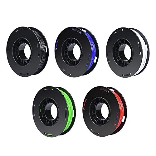 No branded Accessoires imprimante 3D 5pcs 3D Imprimante Filament PLA 1.75mm Consommables Matériel Plastique 0,25 kg Rouleaux for extrudeuses