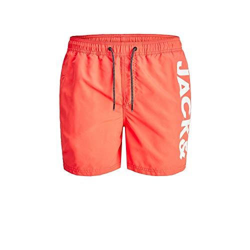 Jack & Jones JJIBALI JJSWIMSHORTS AKM Logo STS Pantalones Cortos, Coral, XL para Hombre