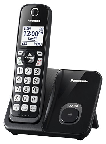 Panasonic KX-TGD510B Expandable Cordless Phone with Call Block – 1 Handset