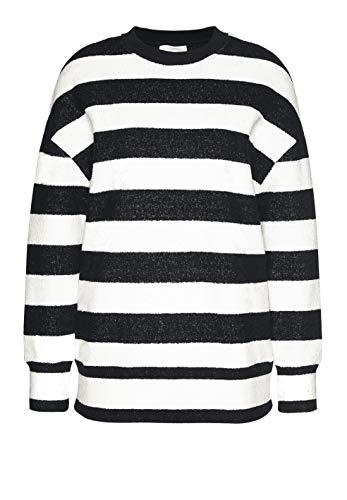 ARMEDANGELS Damen Sweatshirt aus Bio-Baumwolle - Lenya Maxi Stripes - M Black 100% Baumwolle (Bio) Sweat Shirt