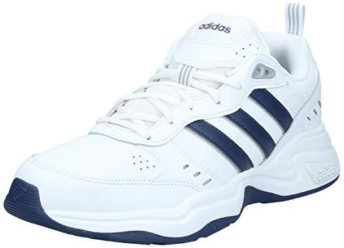 adidas Strutter, Zapatillas Deportivas Fitness y Ejercicio Hombre, Blanc Bleu Foncã Argent Mat, 43 1/3 EU