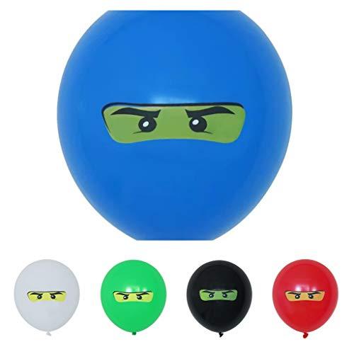 glückspakete Ninja Ballons Kindergeburtstag - 100% biologisch abbaubar - Made in Europe (10 Stück)