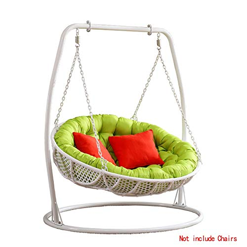 FCXBQ Rattan Wicker Egg Hammock Chair Cushions Thicken Hanging Chair Pads Basket Swing Chair Cushion For Indoor Outdoor-green Diameter110cm(43inch)