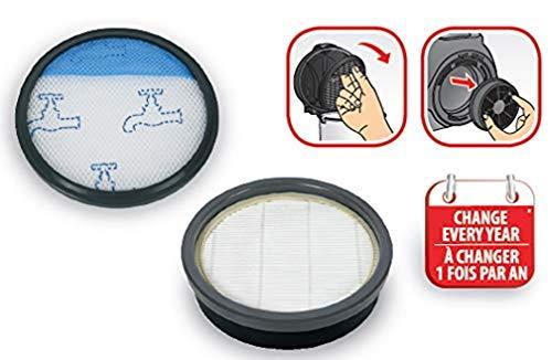 Rowenta Filter-Set für Staubsauger ohne Beutel, Swift Power Cyclonic ZR904301, Grau