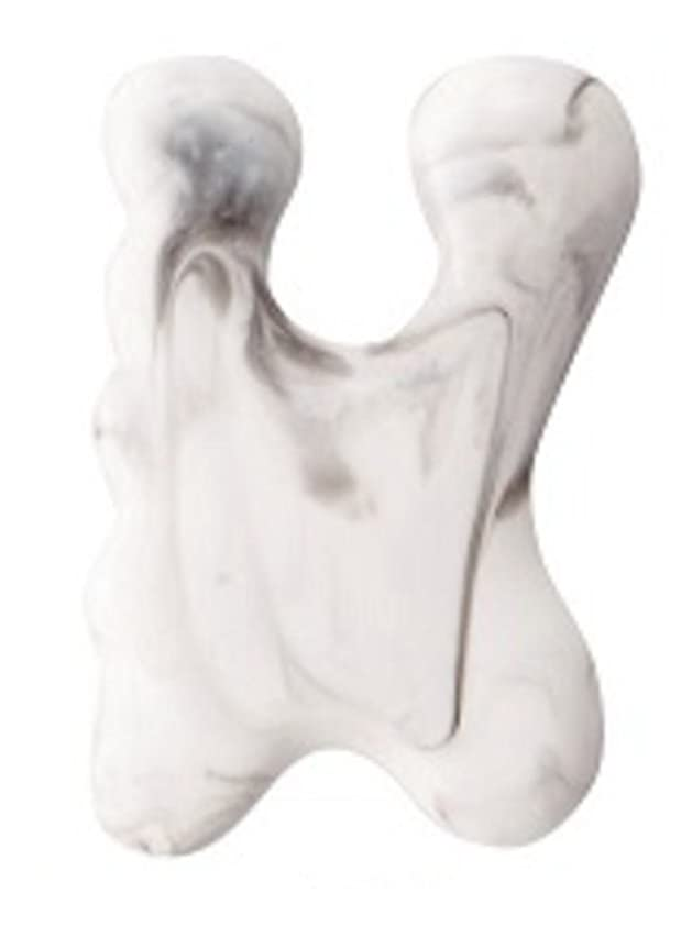 ヘルパーシャー廃止カッサプレート マッサージプレート 顔 目元 眉間 手足のツボ 腕 首 特殊な形状がお肌にフィット