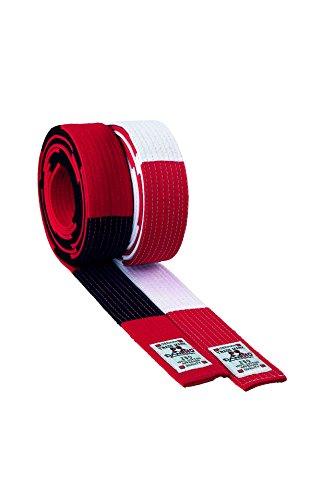 Danrho Taekwondo Judo Karate Gürtel Budogürtel rot-weiß Gürtel rot weiß 5 cm 7. Dan