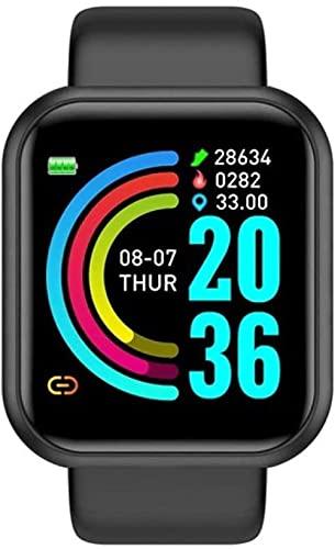 Reloj inteligente Y68 D20 Smart Watch 2020 para hombres y mujeres ritmo cardíaco presión arterial Monitor impermeable Sport Smartwatch para Andriod IOS Smart Clock-D20 Negro