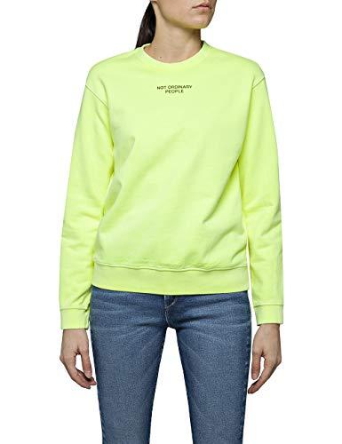 Replay Damen W3286C.000.22390G Sweatshirt, Gelb (Yellow Fluo 343), Small (Herstellergröße: S)