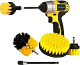 YIHATA Drill Brush Attachments Set, Multi-Purpose Power Scrubber Cleaning Brush Cleaning Brush Extended Long Attachment Kit, for Grout, Floor, Tub, Shower, Tile, Bathroom and Kitchen Surface (4 Pack)
