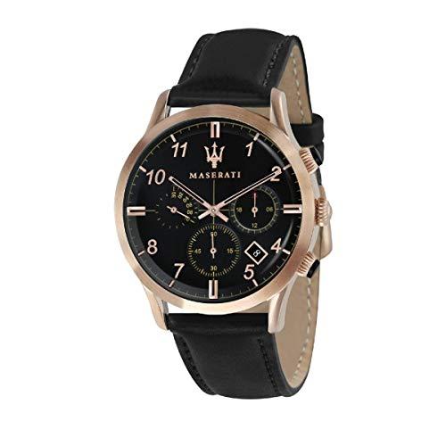 Orologio da uomo, Collezione Ricordo, movimento al quarzo, cronografo, in acciaio, PVD oro rosa e cuoio - R8871625004