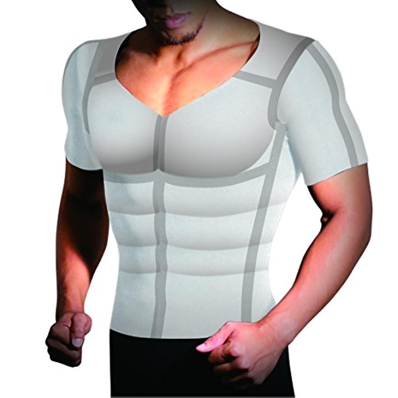 ステレオタイプアーティキュレーション割る加圧シャツ ヒロミプロデュース パンプマッスルビルダーTシャツ(Lサイズ/ホワイト) KTSWTL