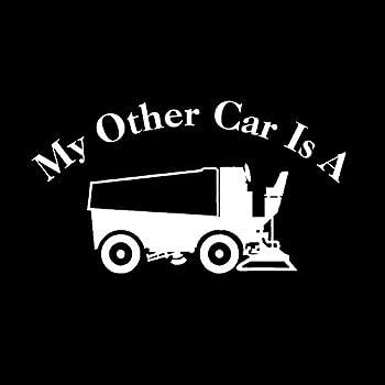 My Other Car is A Zamboni NOK Decal Vinyl Sticker  Cars Trucks Vans Walls Laptop White 7.5 x 4.5 in NOK719