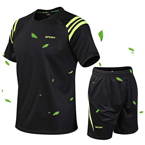 ACMEDE Erwachsene Fußball T-Shirt & Shorts Set - Team Training Wettbewerb Sportbekleidung Im Freien Kostüm Soccer Jerseys Uniforms