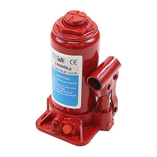 選べる2カラー 油圧式 ボトルジャッキ 定格荷重約10t 約10000kg 1台 単品 油圧ジャッキ だるまジャッキ ダルマジャッキ ジャッキ 手動 安全弁付き ジャッキアップ タイヤ交換 工具 小型 車載用 車 整備 修理 メンテナンス 建設 工場 作業