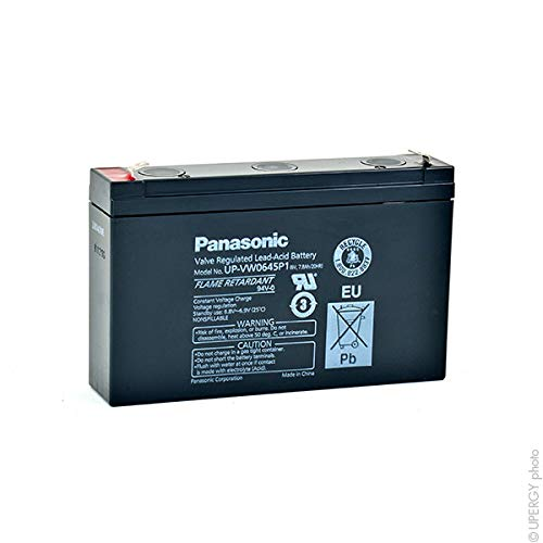 Panasonic - Batterie Wechselrichter PANASONIC UP-VW0645P1 FR 6V 7.8Ah F6.35