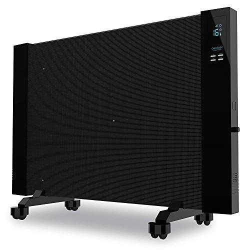 Cecotec Placa Radiante de Mica Ready Warm 3100 Smart Now. Pantalla LCD, Temporizador, Ruedas omnidireccionales, 3 Modos, Termostato Regulable, Sistema de Protección sobrecalentamiento, 2000 W