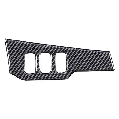 PREPP Ajuste para Mitsubishi Lancer EVO 2008-2015 Coche Fibra de Carbono Dim Light Control Etiqueta de Control de la luz de la luz del Interruptor de la Cubierta Accesorios de Ajuste