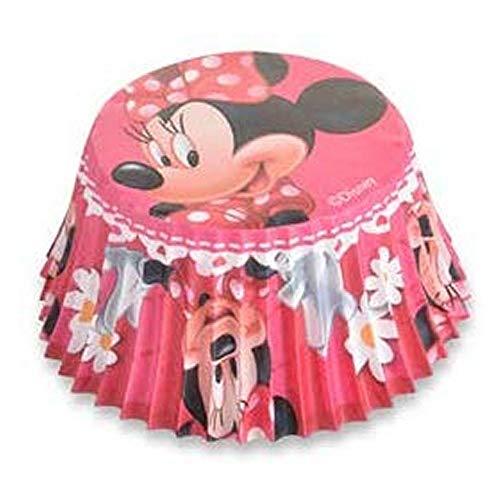 Unbekannt Cupcake-Förmchen Minnie Mouse, 50 Stück Lizenzprodukt.