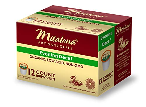 Mitalena Brand - 72 ct. Evening Decaf Organic Arabica Low Acid Coffee Pods