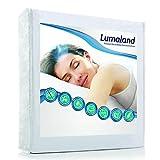 Lumaland Wasserundurchlässige Matratzenauflage Kopfkissenschoner in verschiedenen Größen 2er Set 90 cm x 200 cm