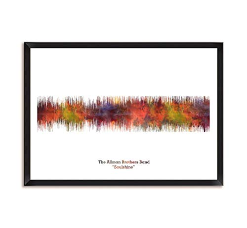 LAB NO 4 The Allman Brothers Band Soulshine Song Soundwave Print Music Lyrics Framed Poster in A4 Size