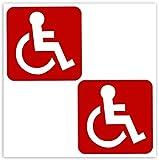 Biomar Labs® 2 pcs Pegatinas Pegatinas Discapacitado Minusválido Vinilo Adhesivo Autos Coches Motos Ciclomotores Bicicletas Ordenador Portátil B 2