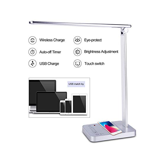 CofunKool LED Desk Lamp with Wireless Charger $16.50 (70% Off with code)
