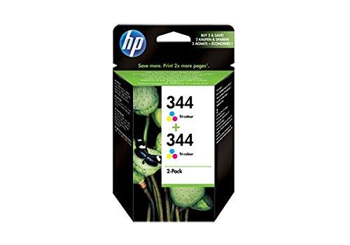 HP–344–Pack de 2cartuchos de tinta Original–cian/magenta/amarillo–450páginas
