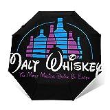 Paraguas plegables Malt Whiskey Not Walt Paraguas de viaje plegables paraguas duradero a prueba de viento a prueba de viento ligero impermeable de impresión de moda
