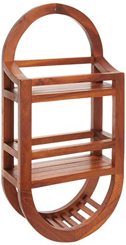 Bare Decor Teak Shower Caddie Storage Organizer