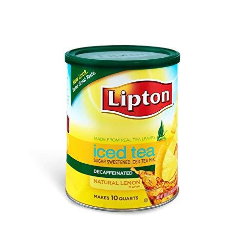 Lipton Iced Tea Sweetened Iced Tea Powder - Decaffeinated Drink Mix -...