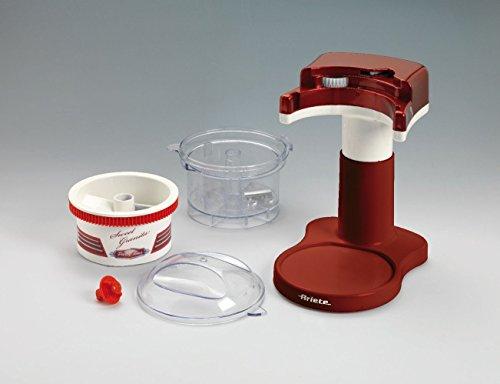 Ariete 78 Picadora de Hielo Sweet Granita Party Time, 30 W, triturador hielo extraíble, hoja acero inoxidable, fácil limpiar y desmontar, tapa on/off, rojo y blanco