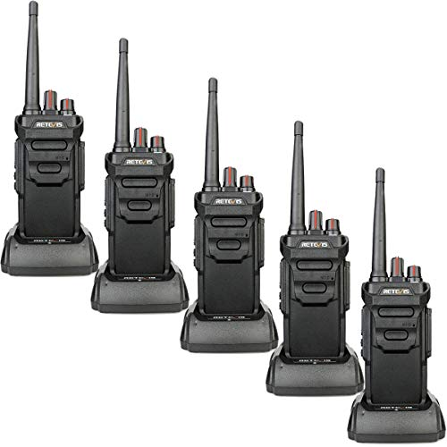 Retevis RT648 Walkie Talkie Recargable IP67 Impermeable PMR 446 sin Licencia 16 Canales VOX CTCSS/DCS Walkie Talkie...
