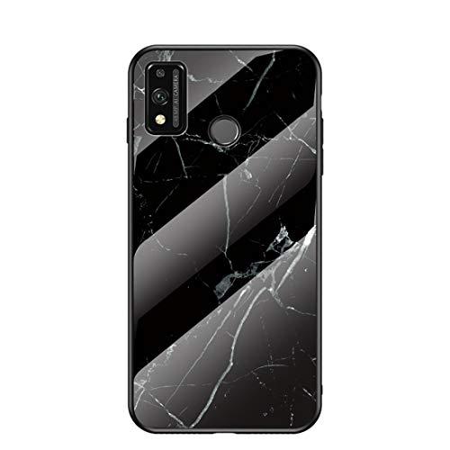 MadBee Funda para Huawei Honor 9X Lite [con Protector de Pantalla],9H Cristal Templado [Mármol] [Resistente a los Arañazos] + Borde de TPU Silicona Suave Fundas Case Cover (Mármol 4)