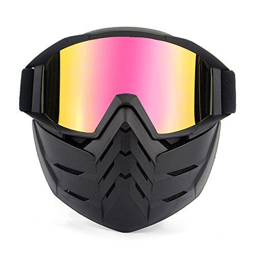 HCMAX Motocicleta Gafas de Moto Desmontable Mascara Facial Casco Bicicleta ATV MX...