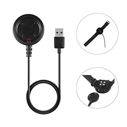 Ladegerät USB Ladegerät Charging Kabel Dock Cradle für Polar Vantage V/M, Schwarz 100cm Lang Ladegeräte Dock USB Ladegerät-Kabel Halter für Batterieladestation