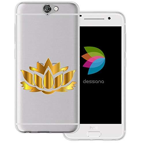 dessana bloemen grafische transparante beschermhoes mobiele telefoon case cover tas voor HTC, HTC One A9, Lotus plant