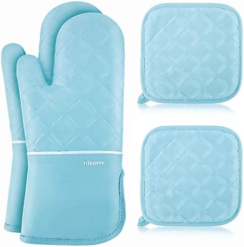 MIZATTO Oven Mitts and Pot Holders 4pcs Set Kitchen Oven Glove High Heat Resistant 500 Degree product image