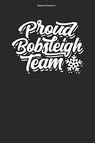 Bobsport Notizbuch: 100 Seiten   Liniert   Hobby Team Sportler Bobs Rennrodel Schlitten Athlet Rennen Rennrodler Bob Sport Wintersport Bobsportler Geschenk Viererbob