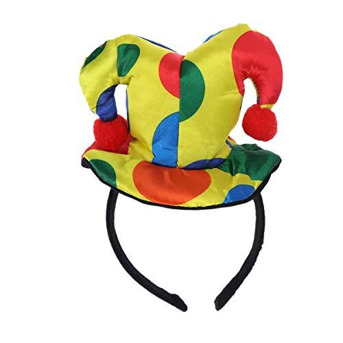 Lurrose Polka Dot Hoed Hoofdband Clown Circus Volwassen Vrouw Man Kostuum Fancy Jurk Haarband