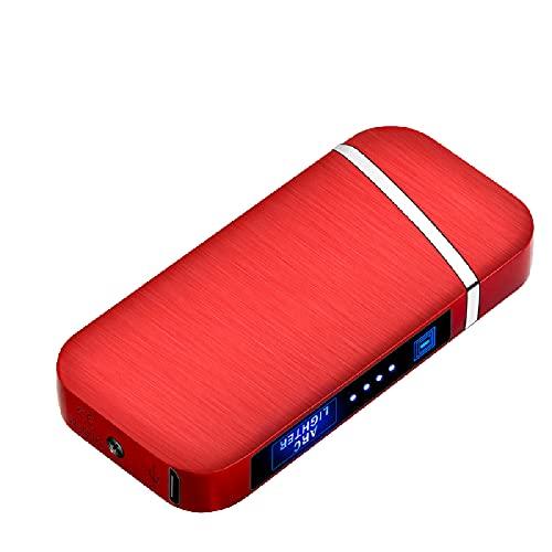 Encendedor recargable, encendedor de interruptor táctil LCD, cargador USB de doble arco, encendedor de pantalla de alimentación