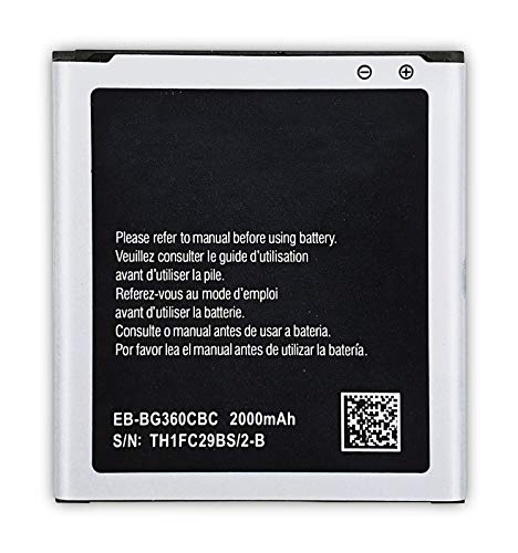 Bateria Compatible con Samsung Galaxy Core Prime G3608/G3606/G360F/G360G/G360GY/G3609/G361F/J2/SM-J200F /J200G/J200H/J200Y/J200M/ EB-BG360CBC